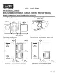 maytag front load washer manual