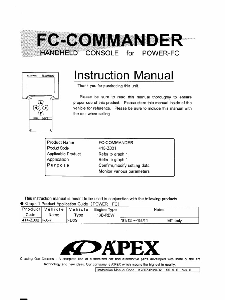 apexi afc neo instruction manual