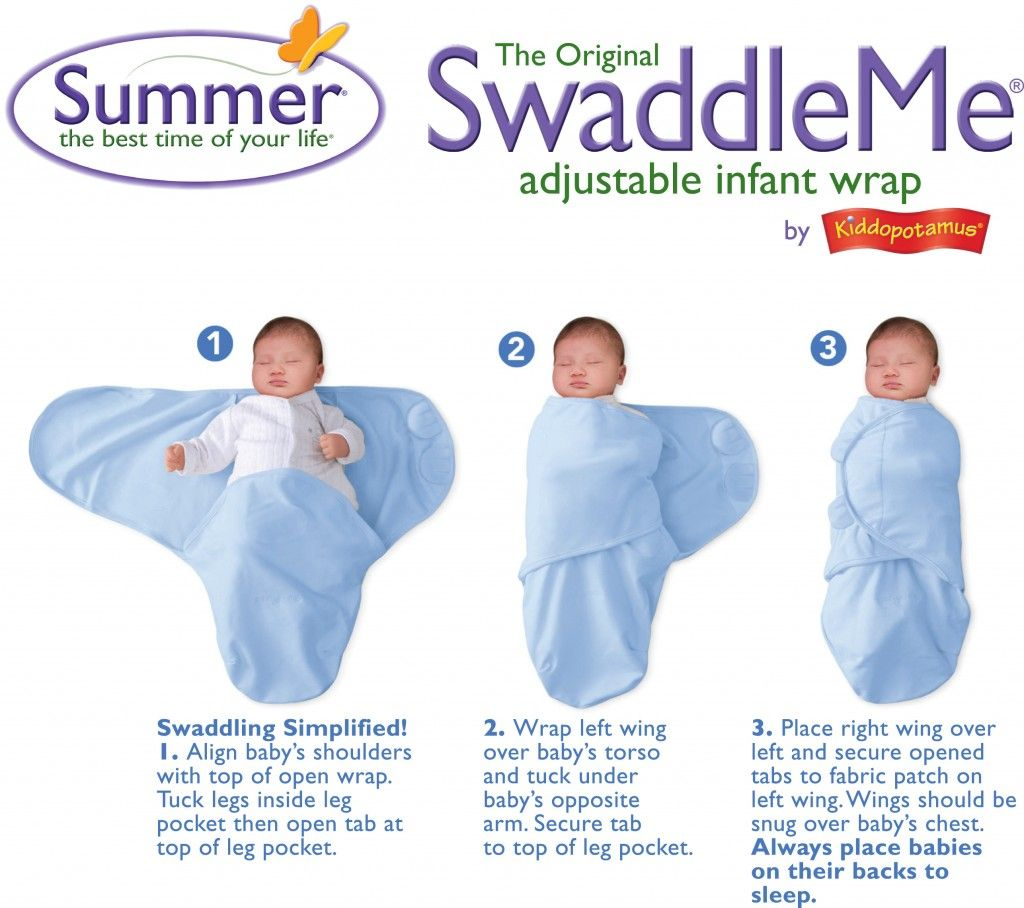 swaddleme instructions arms out