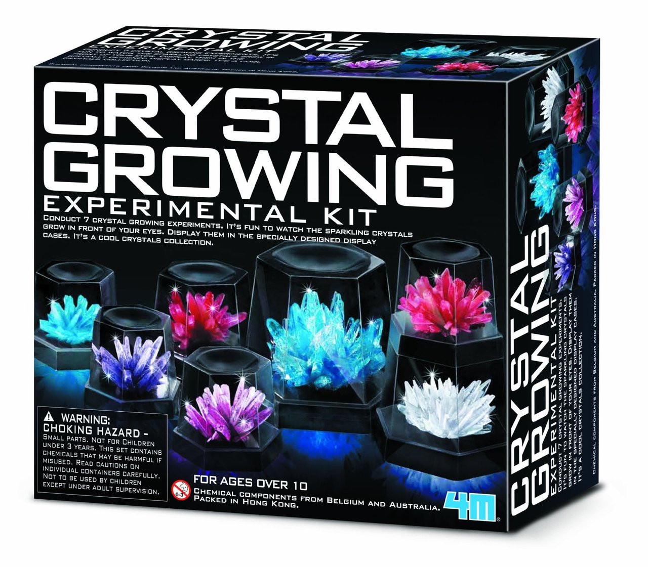 crystal growing experimental kit instructions 4m