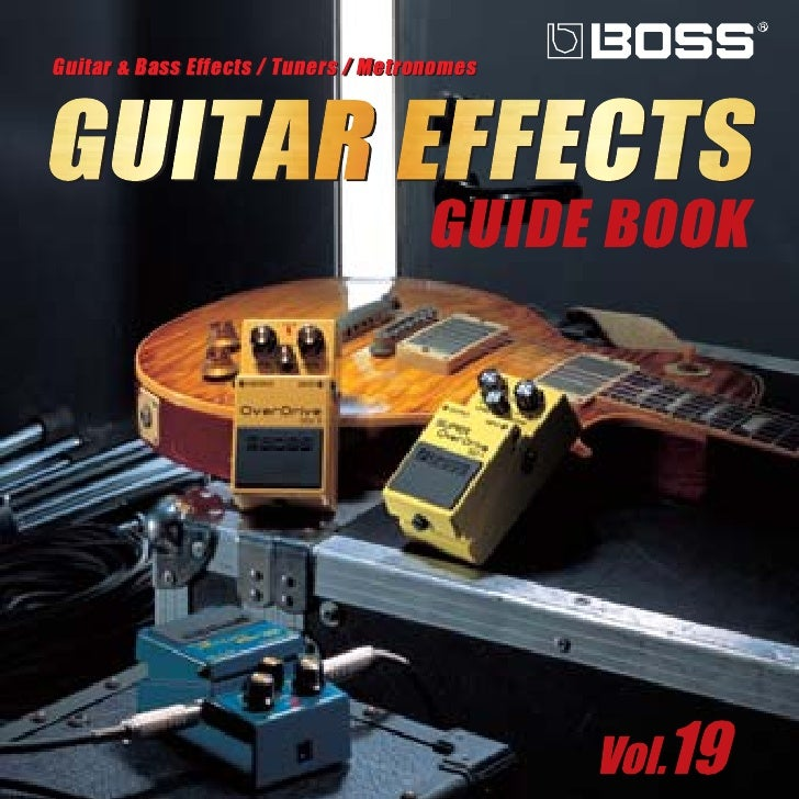 Boss guitar effects guide book vol 21