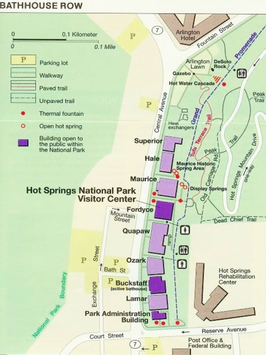 Hot springs national park map pdf