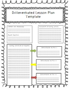 sample lesson plans differentiated instruction math