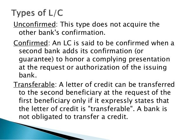 Letter of credit authorization form bangladesh