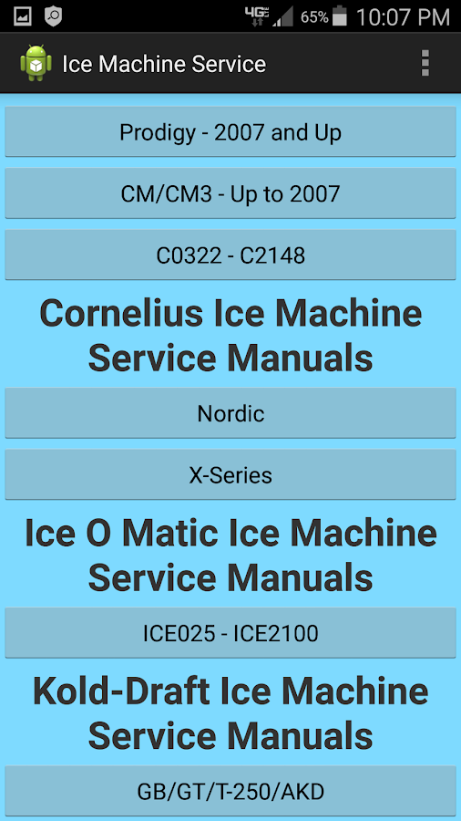 cornelius c60 ice machine service manual