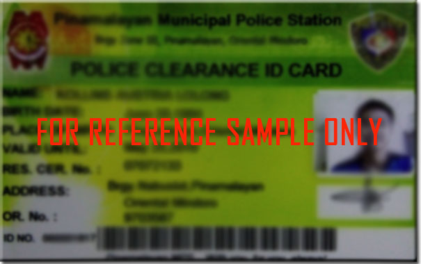 Official police clearance document for international applicants