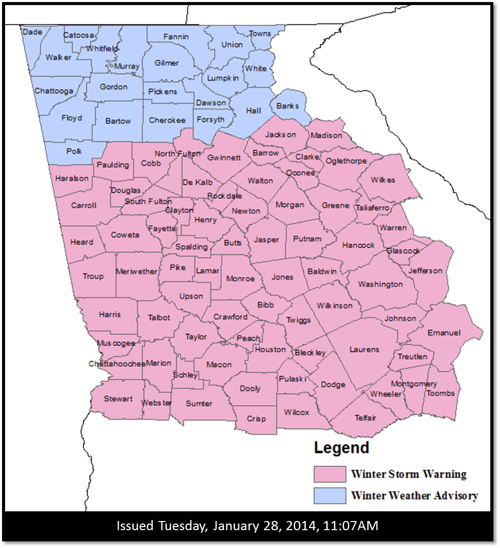 Georgia zip code map pdf