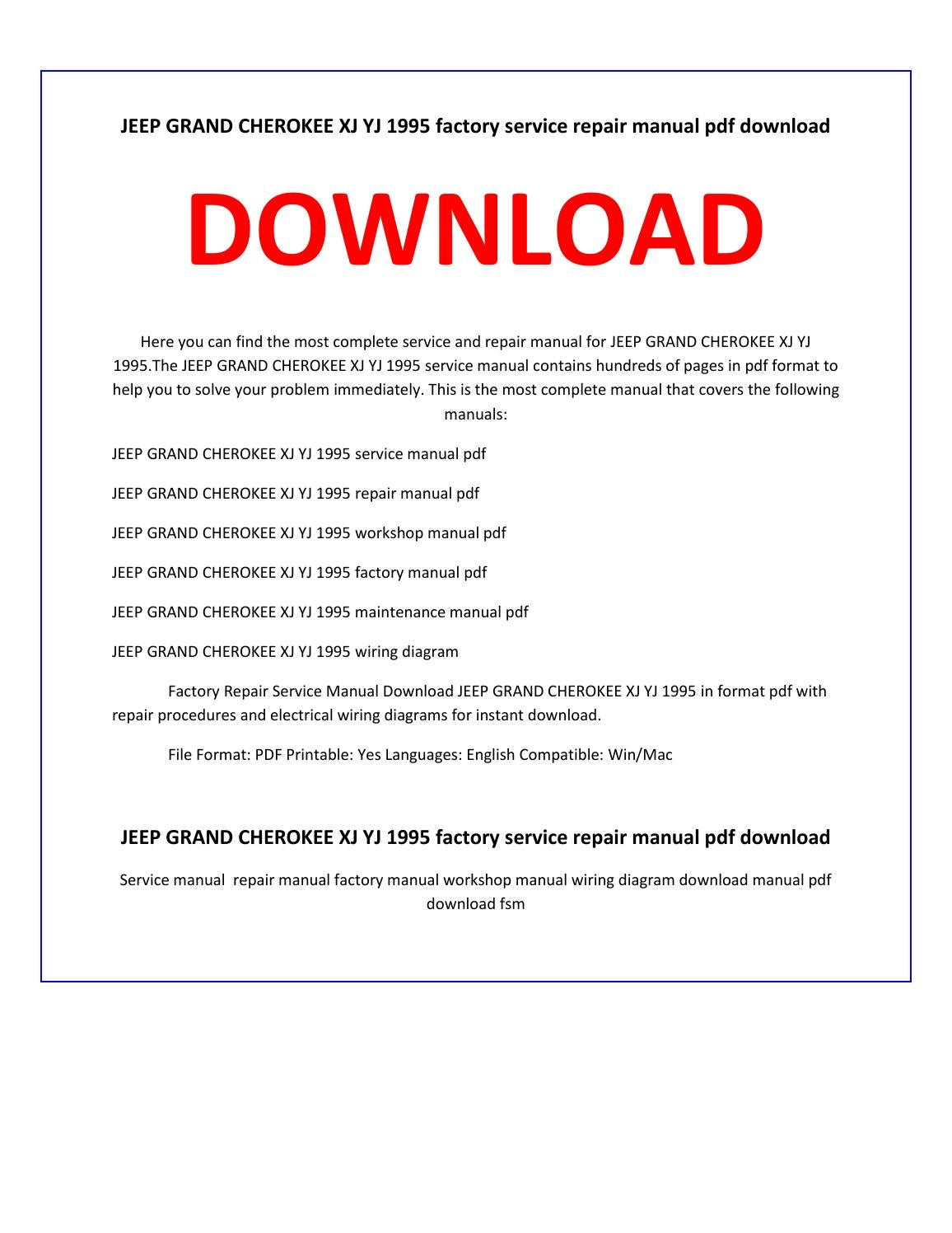 jeep yj service manual pdf
