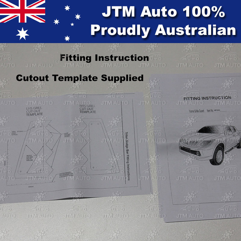 mitsubishi triton tow bar fitting instructions